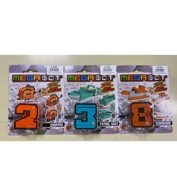 MAGABOT SET 3 PERSONAGGI N.2-3-8 GRANDI GIOCHI