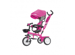 Triciclo Passeggino in Metallo a Pedali Con Seggiolino Reversibile 5 in 1 Rosa