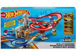 HOT WHEELS PISTA + 5 AUTO - MATTEL